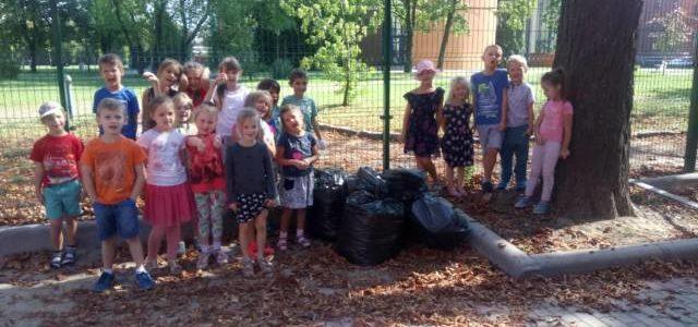 Akcja Sprzątania Świata w grupie Sówek