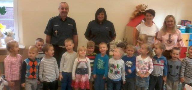 Wizyta Przedstawicieli Straży Miejskiej i Komendy Wojewódzkiej Policji w grupie II Jeżyki